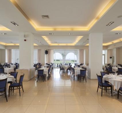 Tinos Beach Hotel inside restaurant